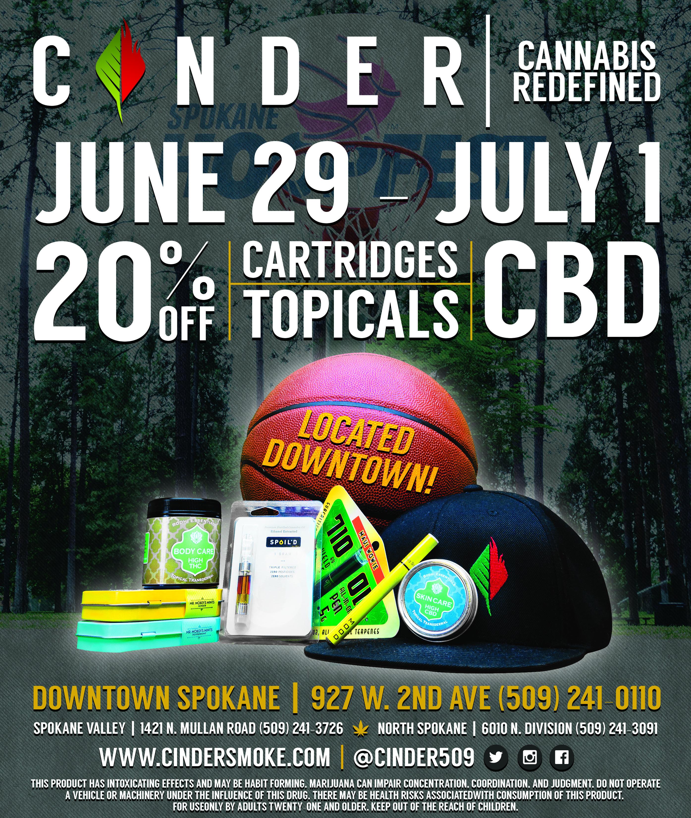 2018 Hoopfest Downtown Spokane Cannabis Sale