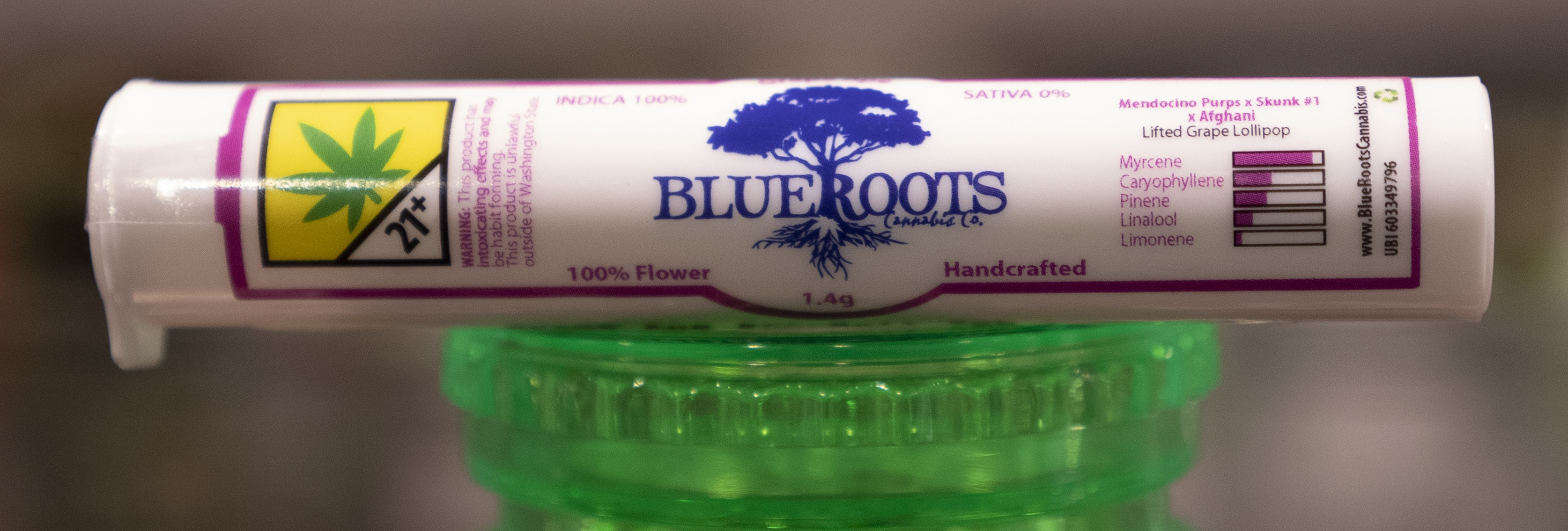 The Budtender's Review Corner: Blue Roots' Grape Ape Preroll