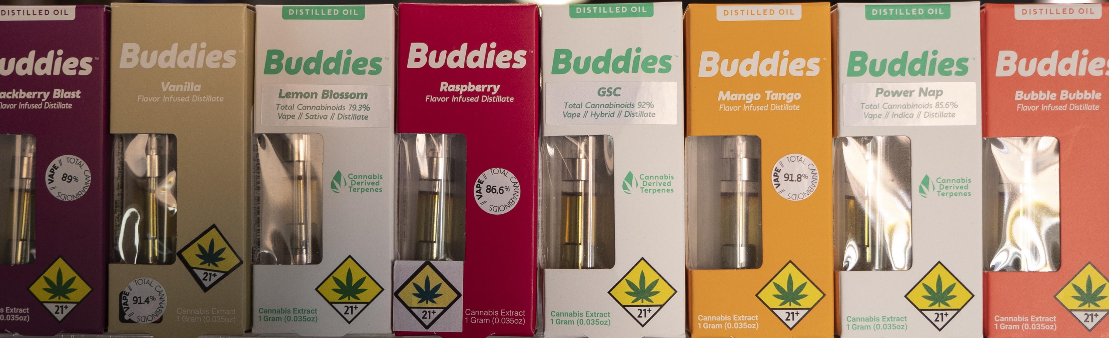 Buddies Spokane Cinder Distillate budtender