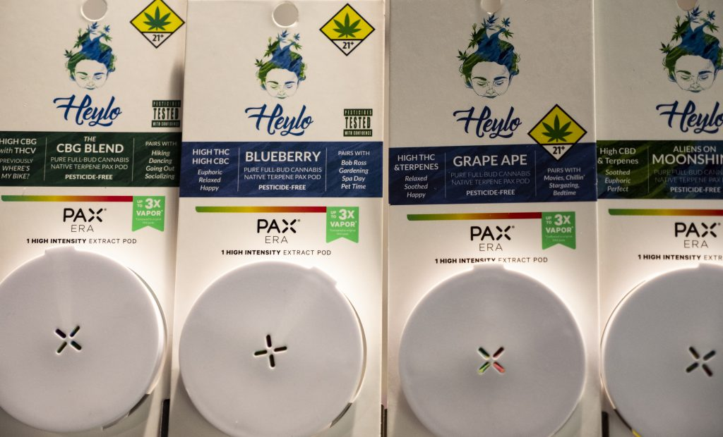 Heylo Pax Pods CInder Spokne item line up Cannabis concentrates