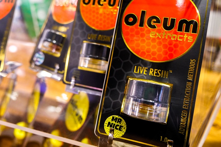1 gram of Mr. Nice live resin by Oleum
