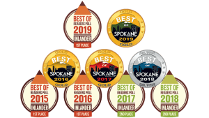 Awards that Cinder has won for being Spokane's #1 Cannabis Retailer