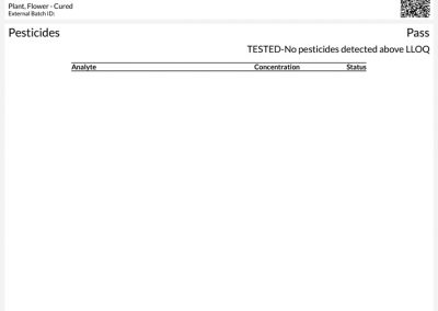 Certificate of Analysis by Trace Analytics for Artizen's Cascade Kush Flower