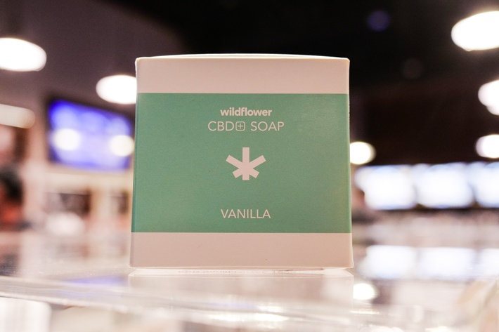 CBD topical skincare with moisturizing ingredients